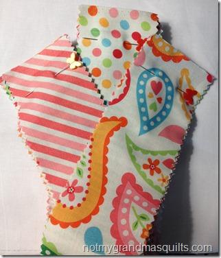 My Sunshine Baby Quilt - Step 1