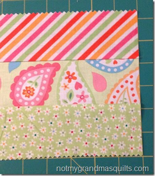 My Sunshine Baby Quilt - Step 1