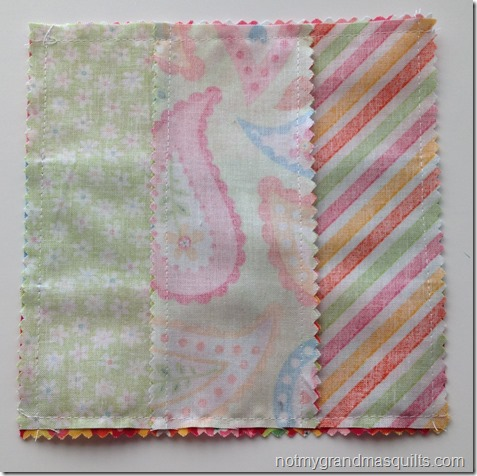 My Sunshine Baby Quilt–Step 2 Small Block Assembly