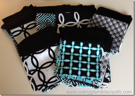 Step 1 Finished Falling Charms Blocks