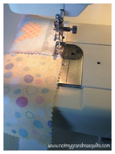 Chain Stitching Step 1- Window Pane Quilt
