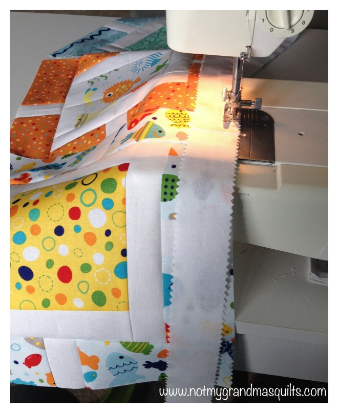 Chain Stitching - Window Pane Quilt