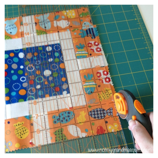 Final Block Trim - Window Pane Quilt